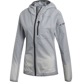 adidas TERREX Agravic Windweave Chaqueta Mujer, grey three/white